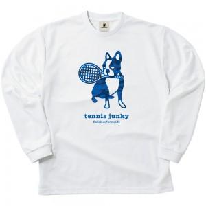 青迷彩テニス+4 ロングDryTEE (ホワイト)