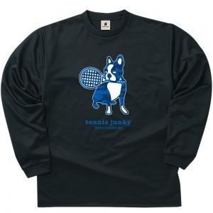 青迷彩テニス+4 ロングDryTEE (ブラック)
