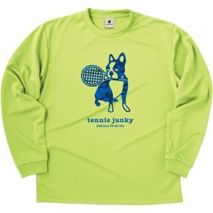 青迷彩テニス+4 ロングDryTEE (ライトグリーン)