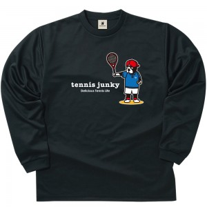 スマッシュ・テニス・ドッグ ロングDryTEE (ブラック)