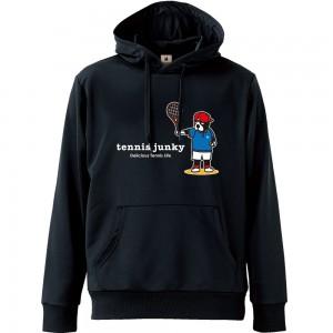 スマッシュ・テニス・ドッグ Dryスウェットプルパーカー (ブラック)