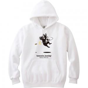 エアー犬 プルパーカー (ホワイト)