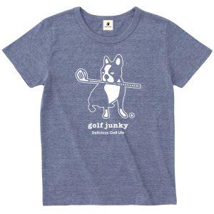 Golf Junky +2 半袖TEE (ヘザーネイビー)