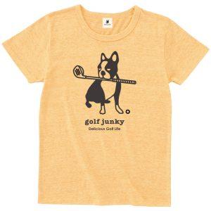 Golf Junky +2 半袖TEE (ヘザーイエロー)