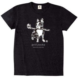 迷彩ゴルフ犬+1 半袖TEE (ブラック)