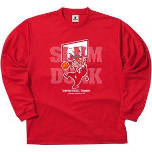 SLAM+5 ロングDryTEE (レッド)