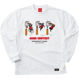 DUNK CONTEST ロングDryTEE (ホワイト)