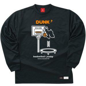 DUNK!? ロングDryTEE (ブラック)