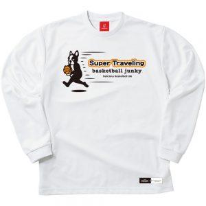 Super Traveling ロングDryTEE (ホワイト)