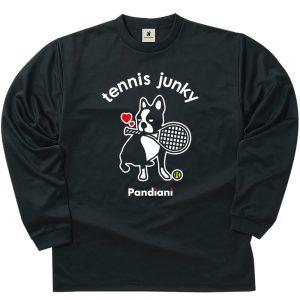 ラブラブテニスジャンキー ロングDryTEE (ブラック)