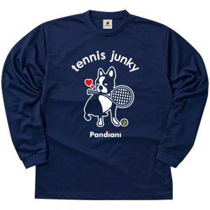 ラブラブテニスジャンキー ロングDryTEE (ネイビー)