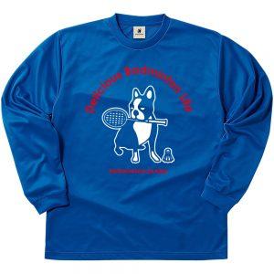 バド犬+5 ロングDryTEE (ブルー)