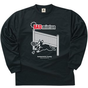 BADminton ロングDryTEE (ブラック)