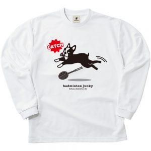 CATCH犬 ロングDryTEE (ホワイト)