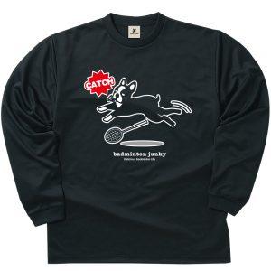 CATCH犬 ロングDryTEE (ブラック)